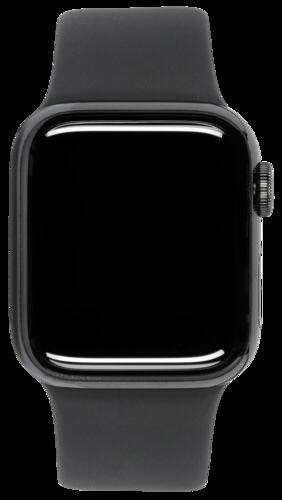 Apple Watch Series 5 GPS + Cell 44mm Steel Case Black Sport Band