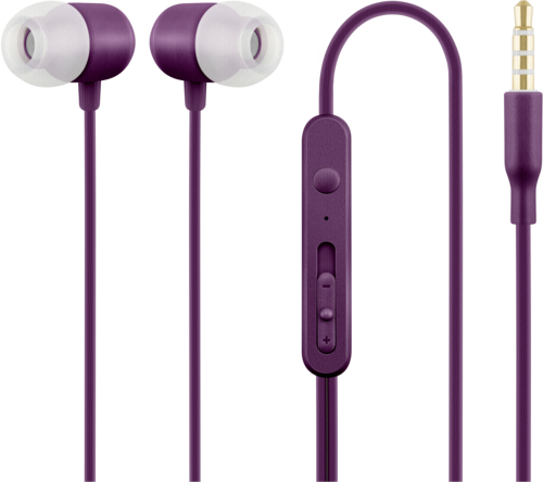 Acme HE21P In Ear Headphones with Microphone Purple