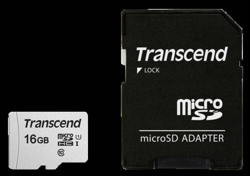Transcend microSDHC 300S-A 16GB Class 10 UHS-I U1