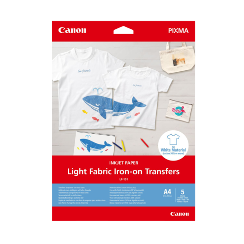Canon LF-101 A4 Light Fabric Iron-on Transfers (5 Sheets)
