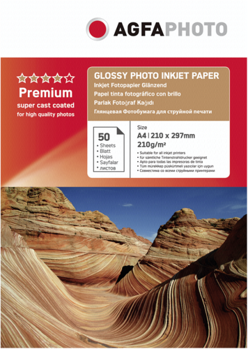 AgfaPhoto Glossy Photo Paper 210g A4 50 Sheets