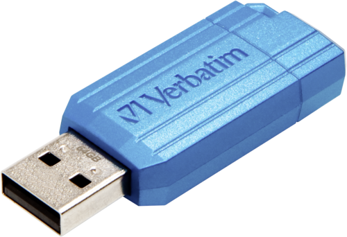 Verbatim Store n Go 64GB Pinstripe USB 2.0 caribbean blue