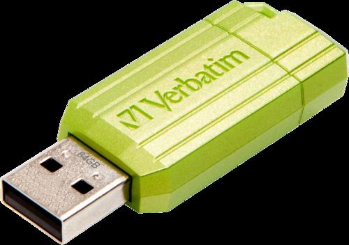 Verbatim Store n Go 64GB Pinstripe USB 2.0 eucalyptus green