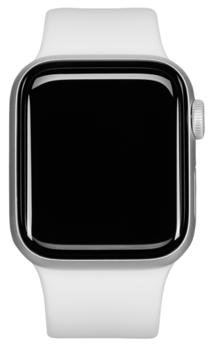 Apple Watch Series 4 GPS Cell 44mm Silver Alu White Band