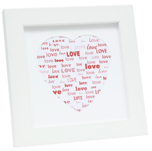 Deknudt S45SK1 Love Heart Wood 13x13 white