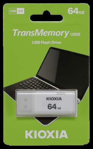 Kioxia U202 Hayabusa 64GB USB 2.0 white