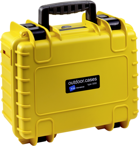 B&W Copter Case Type 3000 Y yellow with DJI Mavic Air 2 Inlay