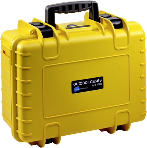 B&W Copter Case Type 4000 Y yellow with DJI Mavic Air 2 Inlay