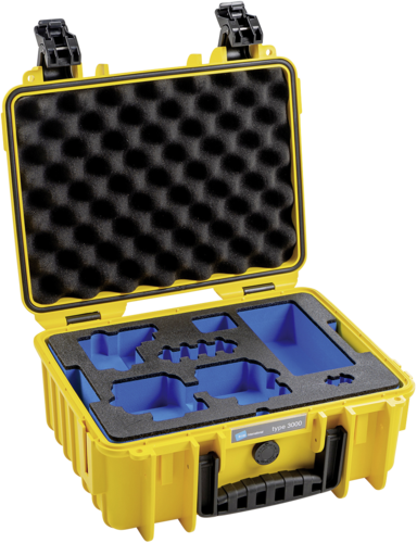 B&W Case Type 3000 Inlay for GoPro 8 yellow