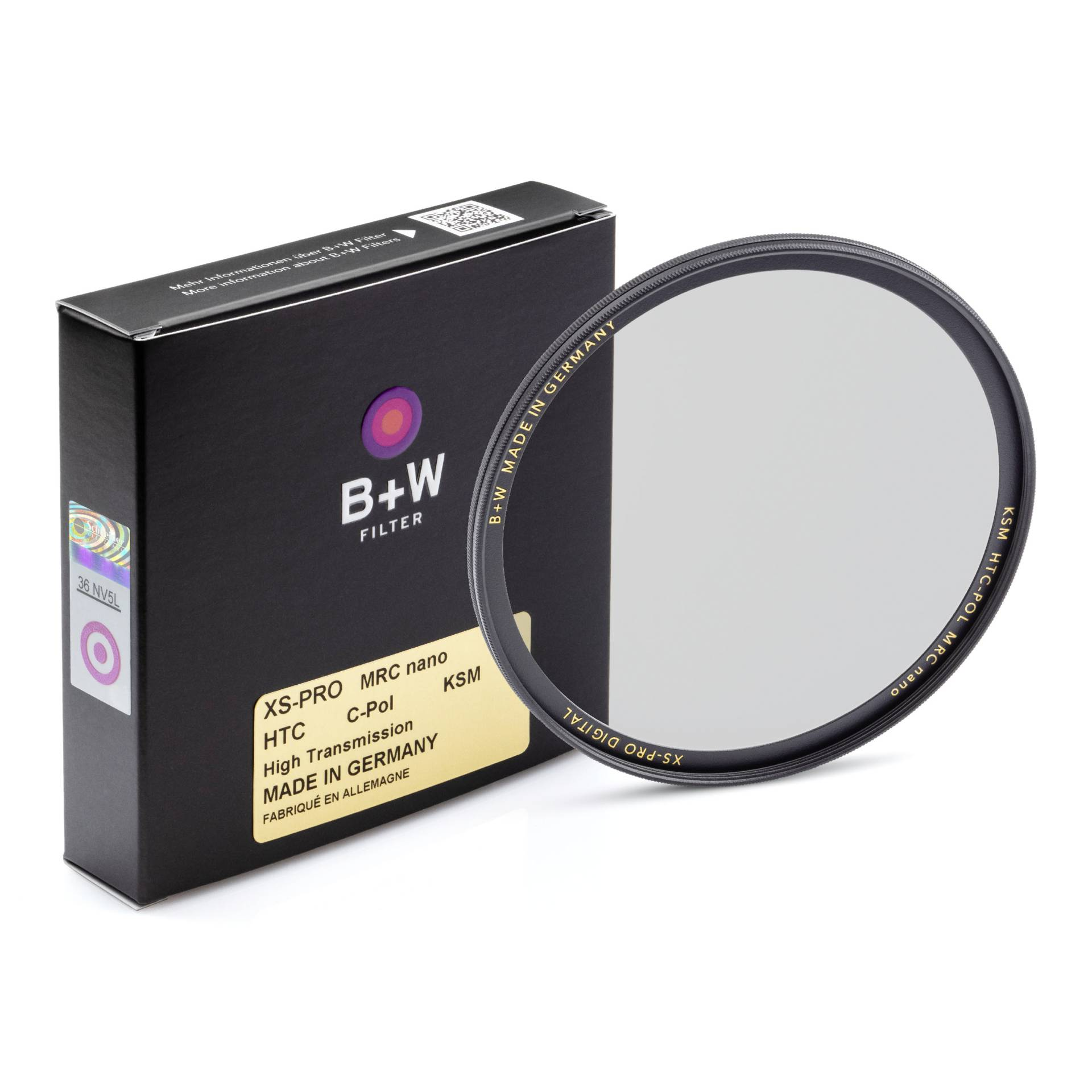 B+W XS-Pro Digital HTC Circular Polarizer Kasemann MRC nano 39mm