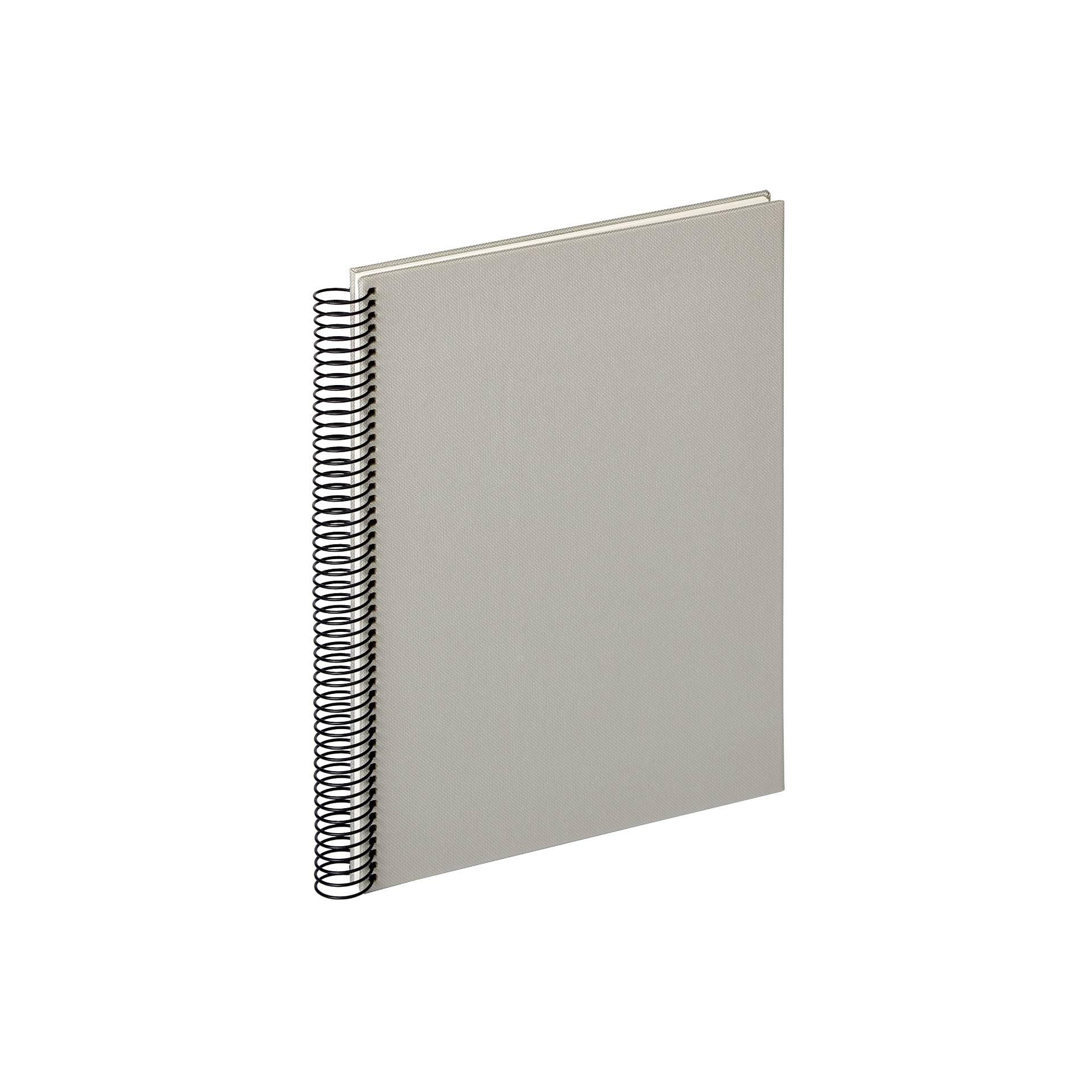Walther Lino Spiral Light Grey 21x29.7 - 40 white pages