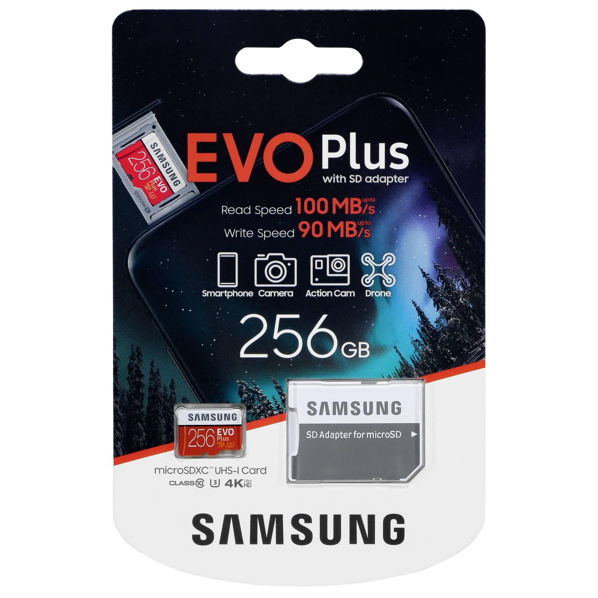 Samsung microSDXC EVO Plus 256GB with adapter UHS-I