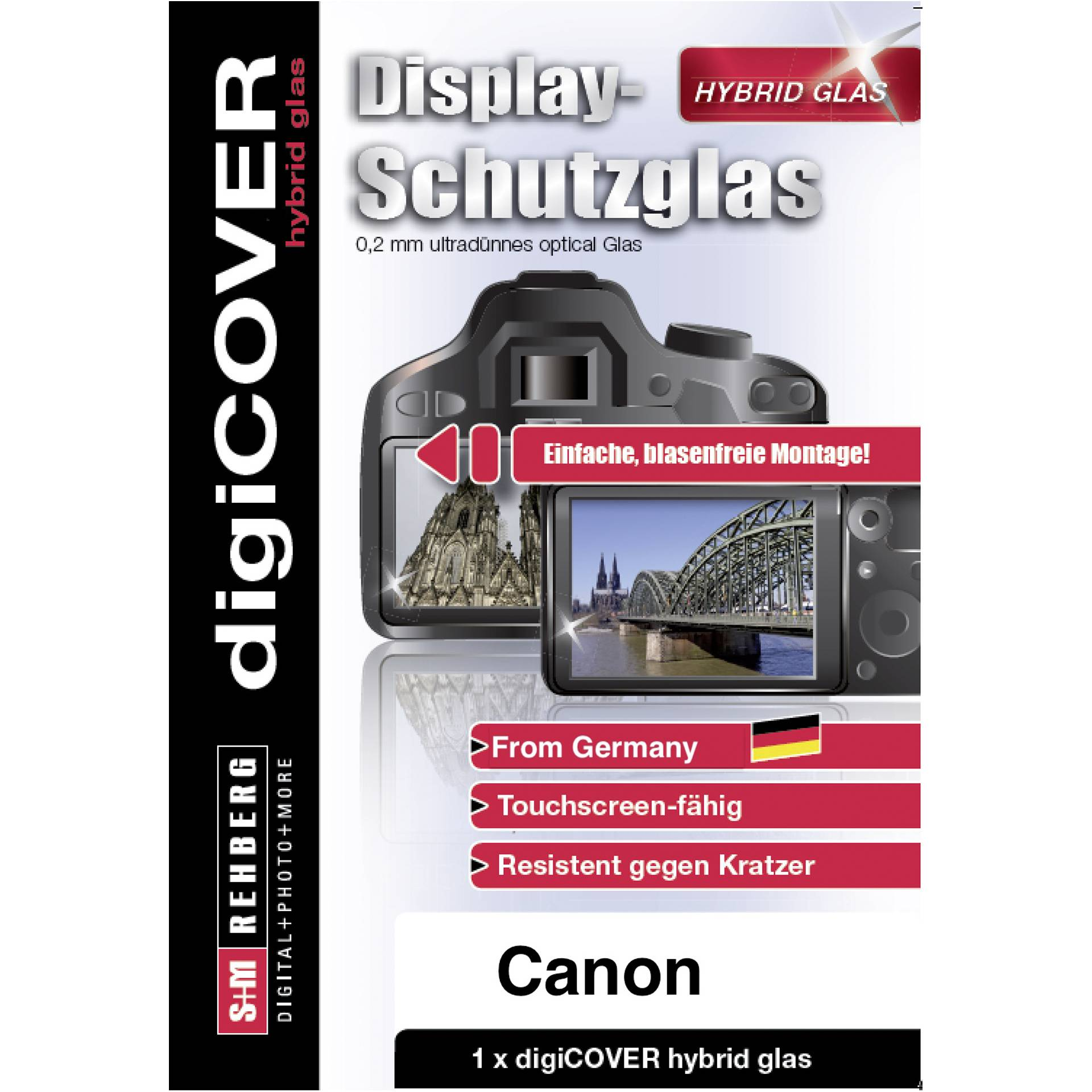 DigiCOVER Hybrid Glass Display Cover Canon EOS R6