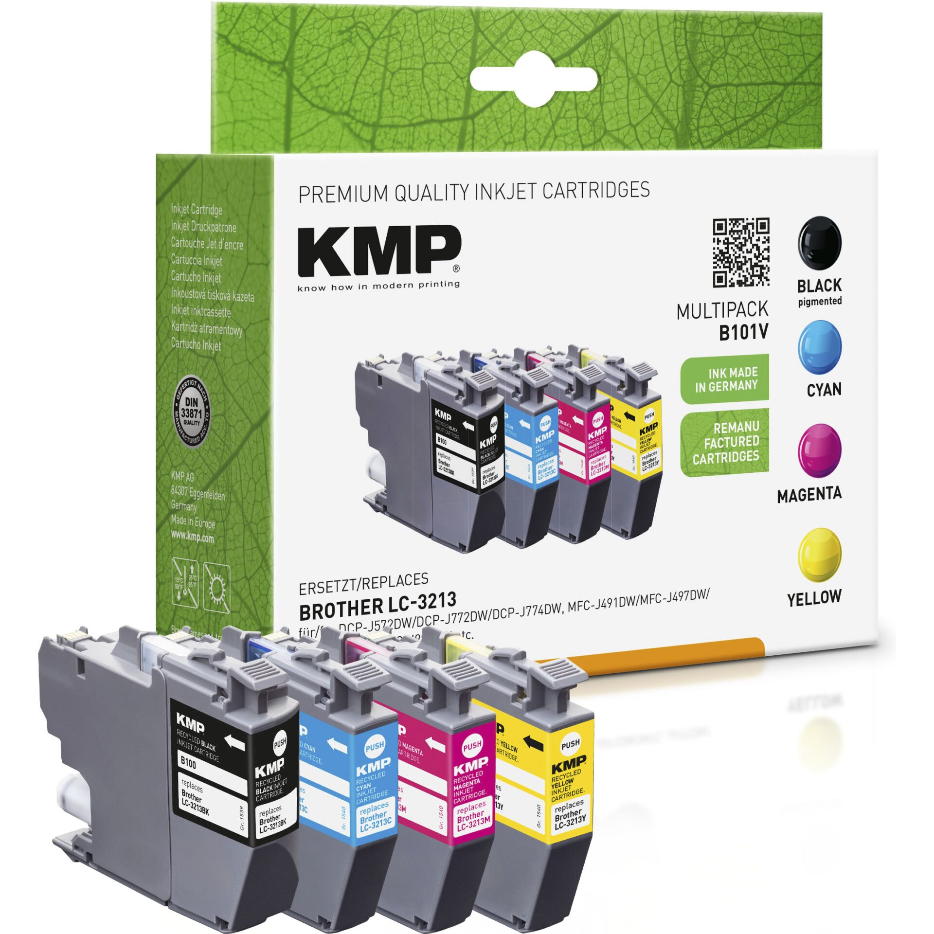 KMP B101V Promo Pack Bk/C/M/Y for Brother LC-3213