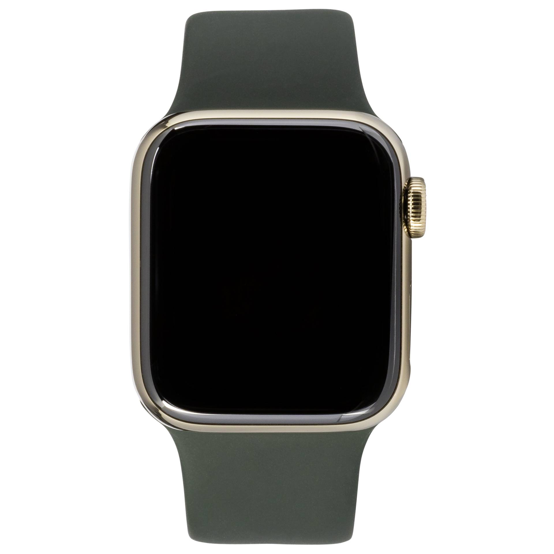 Apple Watch Series 6 GPS+ Cell 44mm Gold Steel Green Sport Band