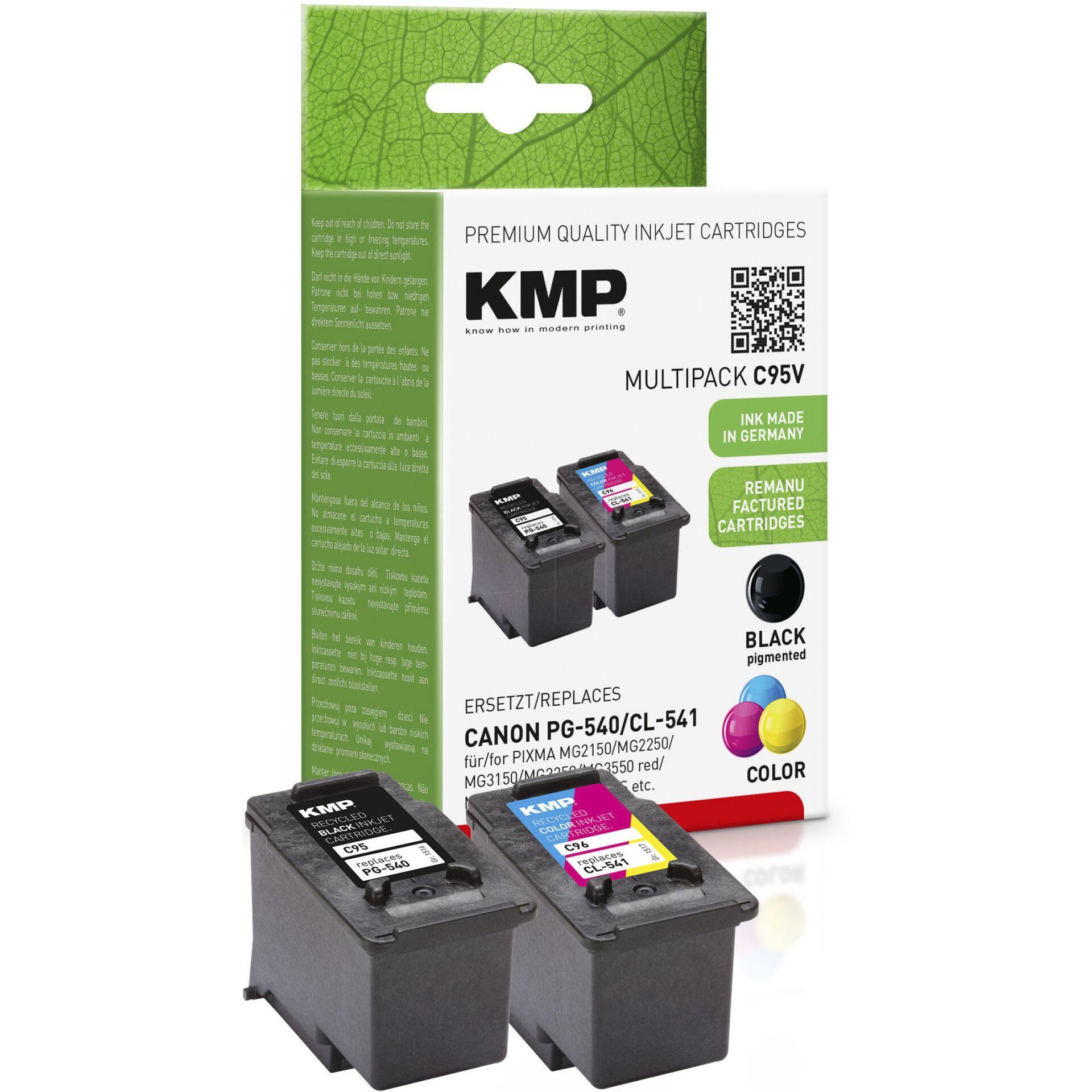 KMP C95V Multipack BK/Color compatible w. Canon PG-540/CL-541