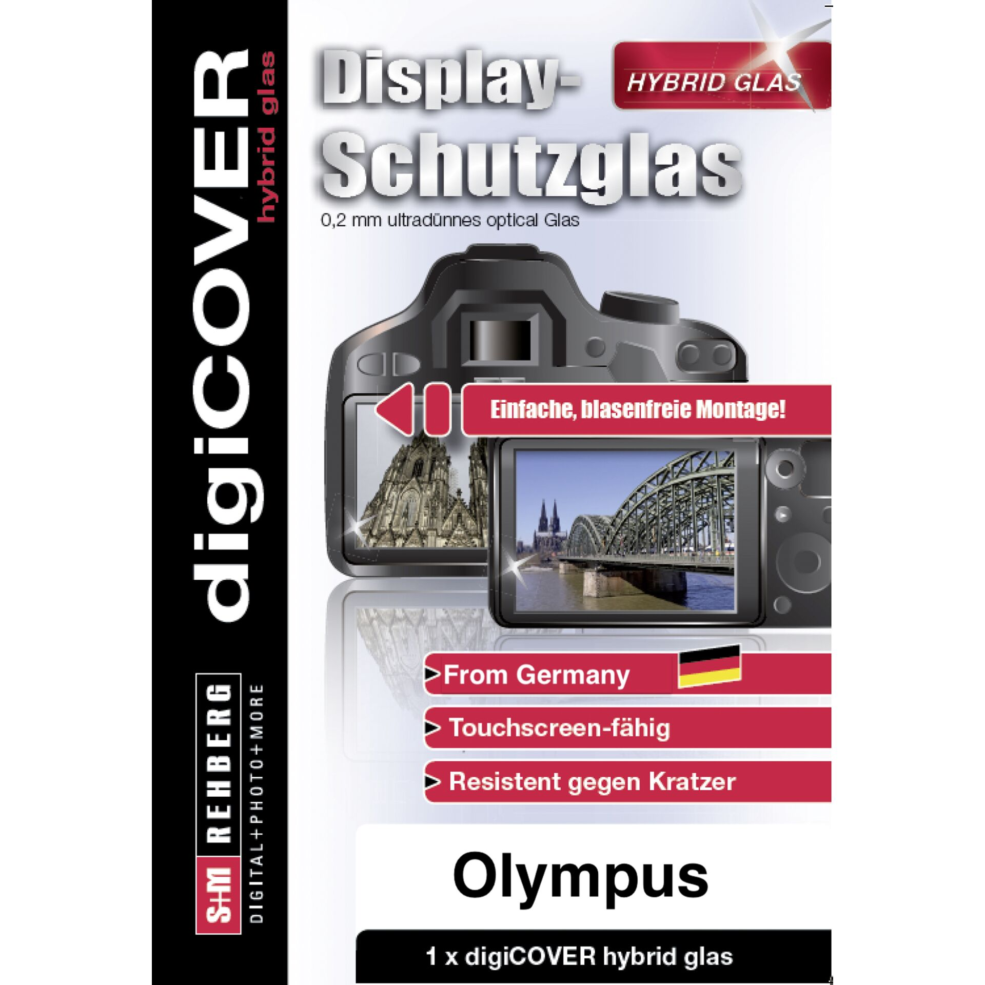 DigiCOVER Hybrid Glass Display Cover Olympus OM-D E-M1 MK IV