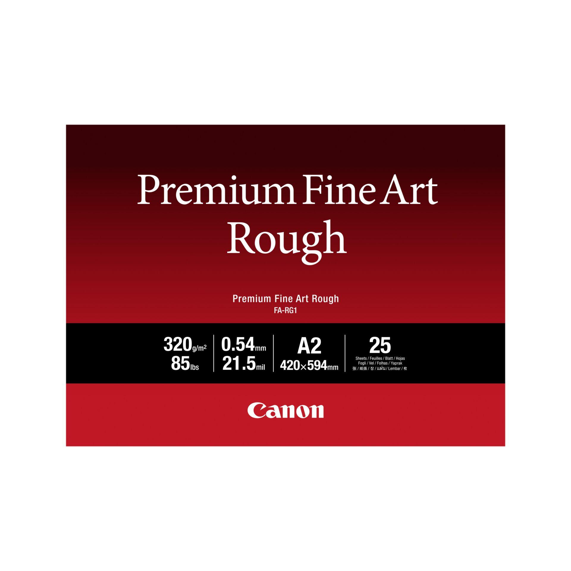Canon FA-RG 1 Premium Fine Art Rough A 2, 25 Sheet, 320 g
