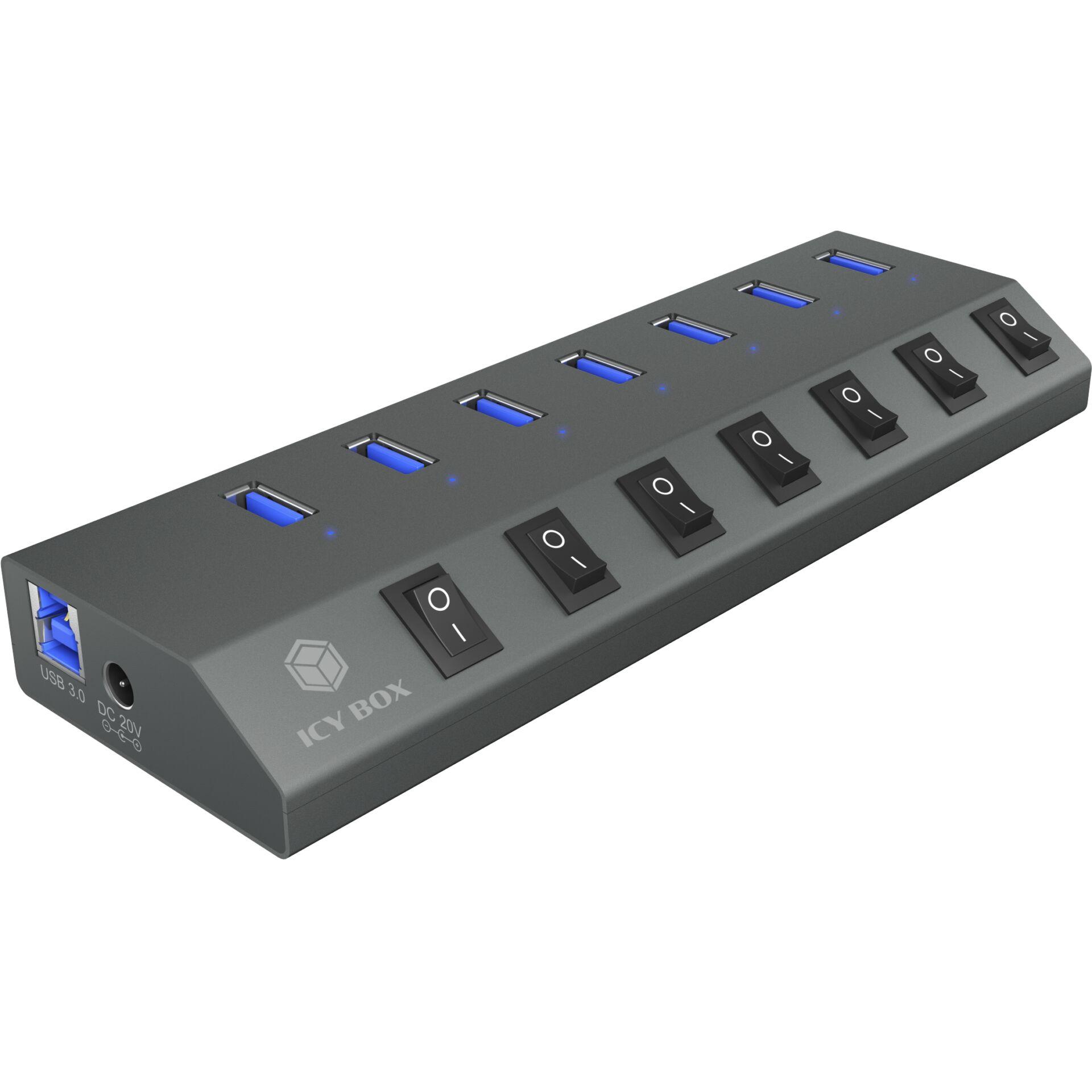 RaidSonic IB-HUB1701-C3 7 port  Type-A Hub USB 3.0