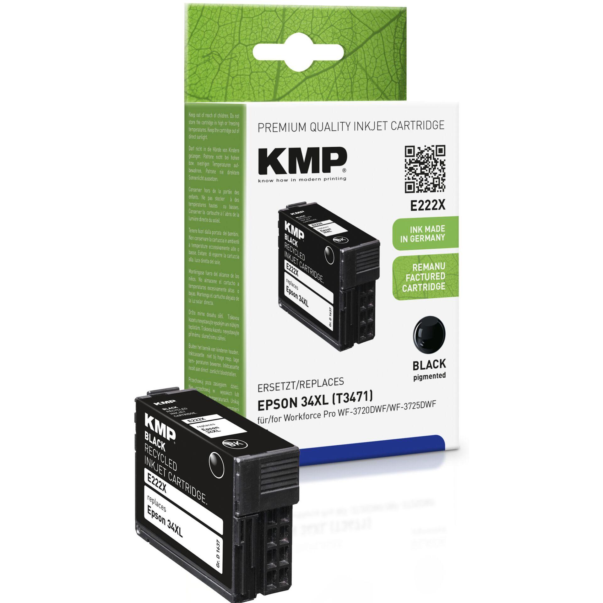 KMP E222X ink cartridge black compatible Epson T3471