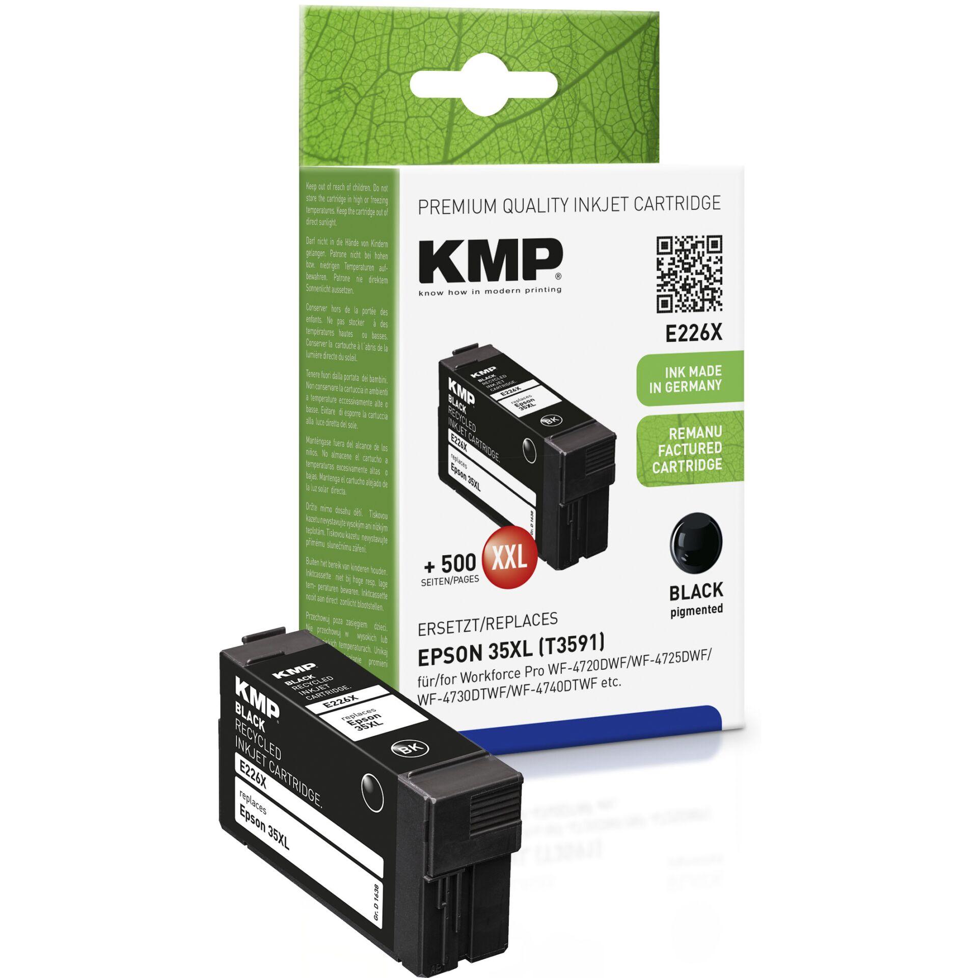 KMP E226X ink cartridge black compatible Epson T3591