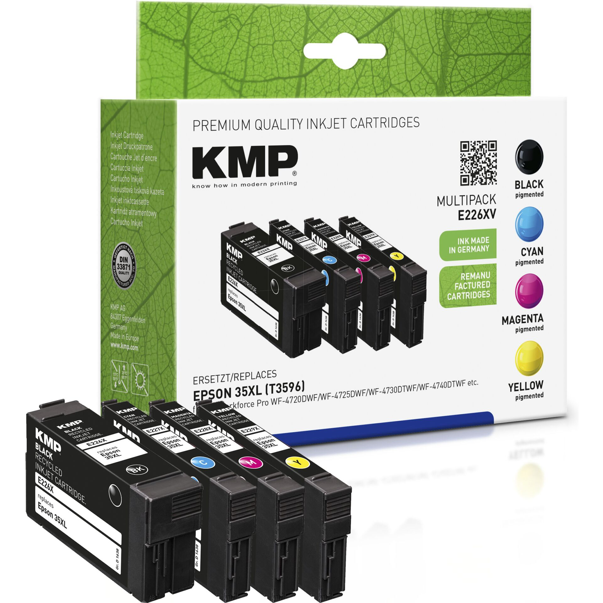 KMP E226XV Multipack BK/C/M/Y compatible Epson T3596 XL