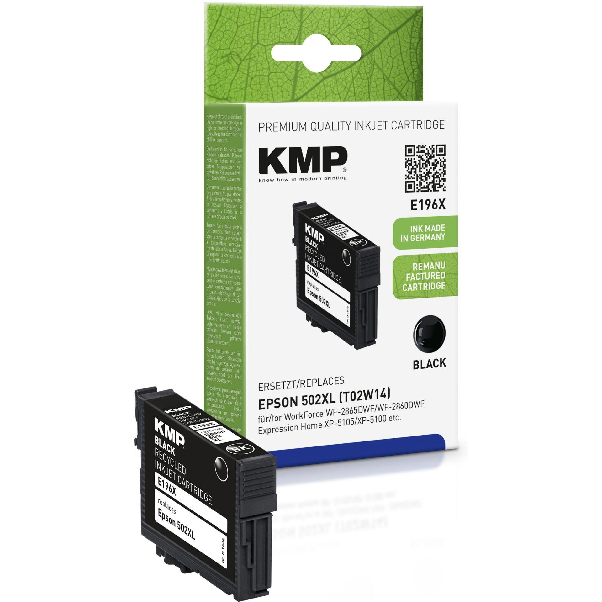 KMP E196X Ink black compatible Epson T02W1