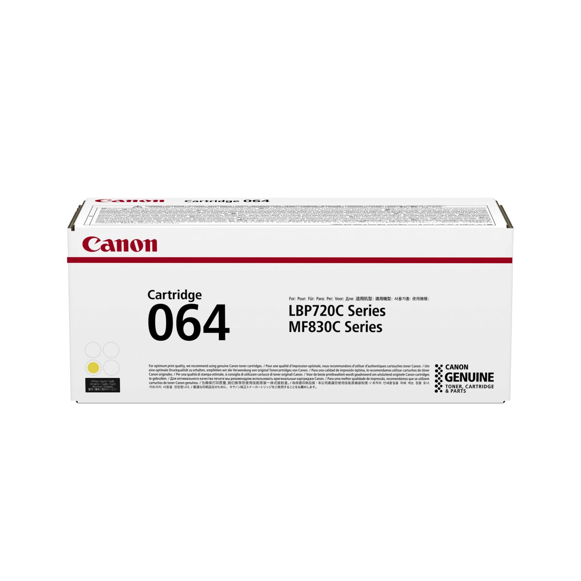 Canon Toner Cartridge 064 Y yellow