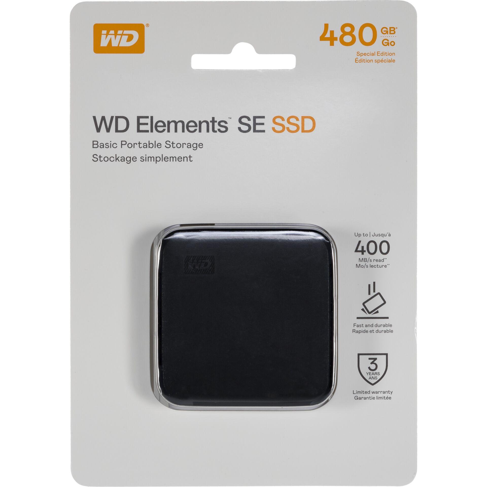 Western Digital Elements SE 480GB 400MS/s