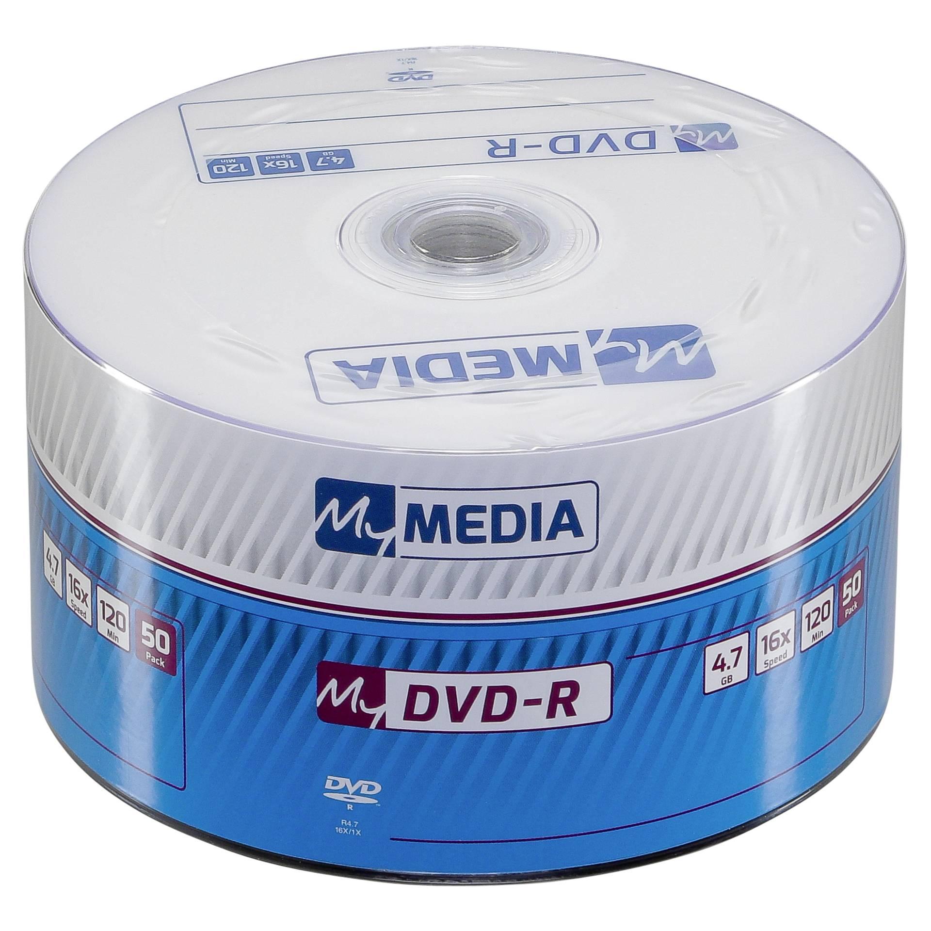 MyMedia DVD-R 1x50 4,7GB x16 Speed Matt Silver
