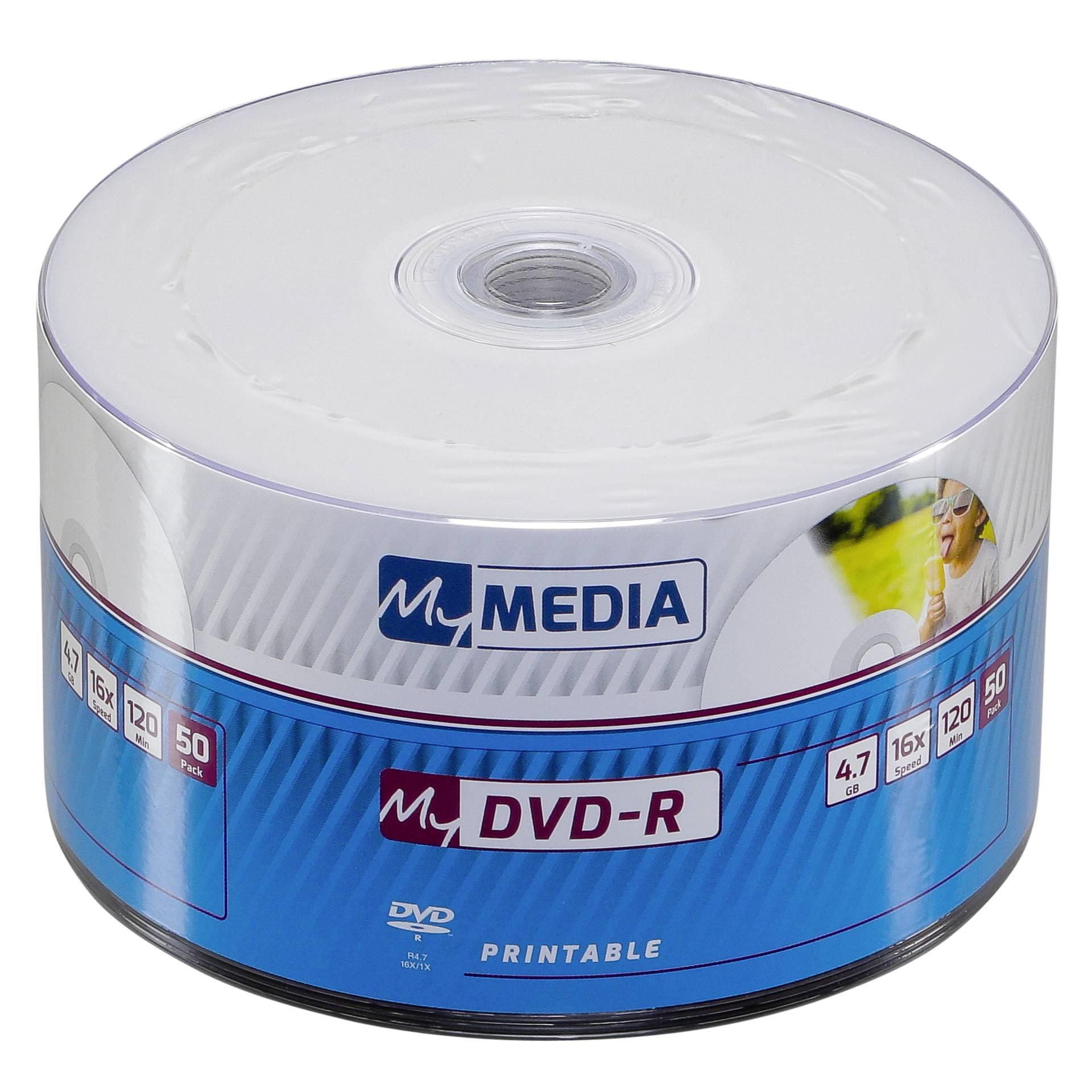 MyMedia DVD-R Printable Wrap 1x50 4,7GB x16 Speed